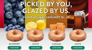 Krispy Kreme Votes On New Doughnut Glaze Flavor