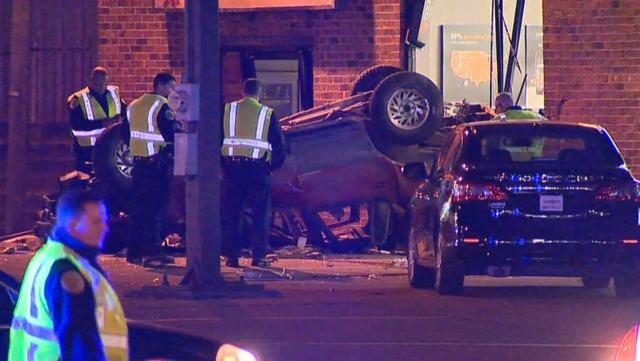 1 Killed, 4 Injured In Overnight Crash