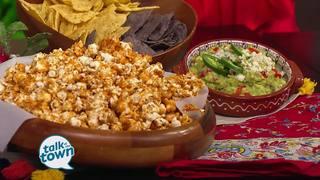 Spicy Caramel Popcorn&Pimiento Cheese Guacamole