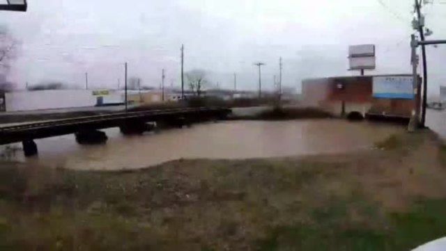 Creek In Lebanon Rises During Heavy Rainfall