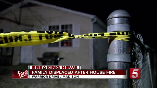 Family Of 6 Displaced After Madison Fire