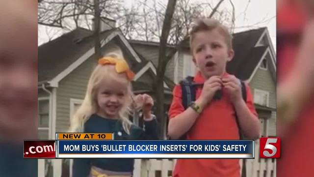 Local Mom Invests In Bulletproof Backpack Inserts For Children