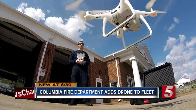 Columbia Fire Department Launches Drone program To Assist In Emergencies