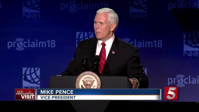 VP Mike Pence Visits Nashville; Speaks At Convention