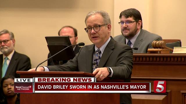 Vice Mayor David Briley was sworn in as Nashville Mayor after Megan Barry's resignation