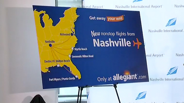 Low-priced  airline carrier offering new routes from Flint to Florida, SC