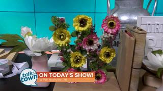 KariAnne Wood's Spring Floral Monogram Craft