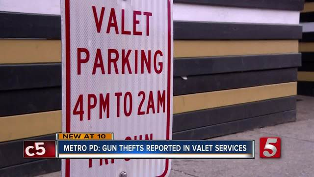 Number Of Guns Reported Stolen From Valet Services Increase