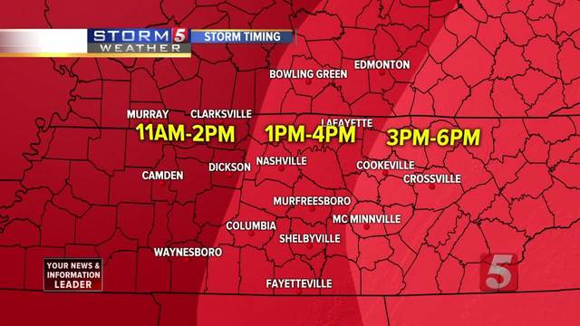Storm 5 Alert Issued For Possible Severe Weather
