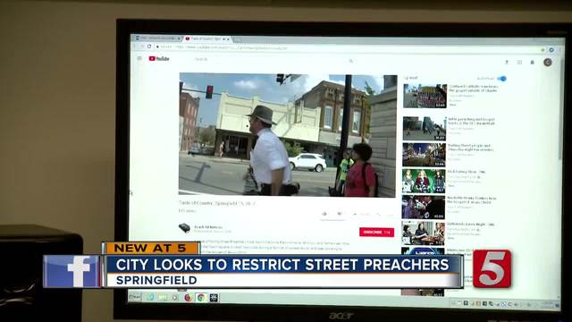 Springfield To Consider Restricting Street Preachers With Anti-Noise Regulation