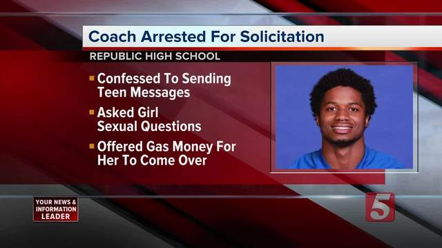 Nashville Football Coach Charged With Soliciting Teen