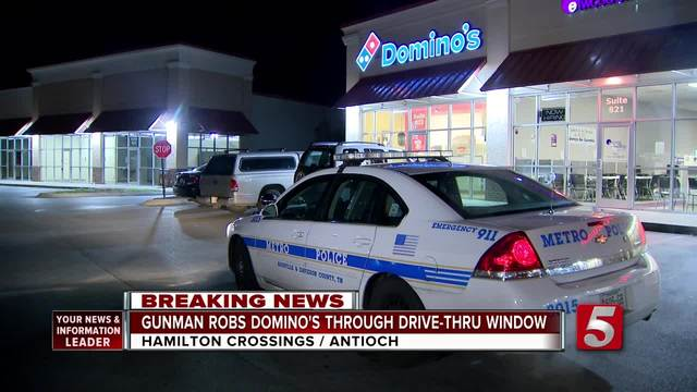 Armed Robber Crawls Through Domino-s Drive-Thru