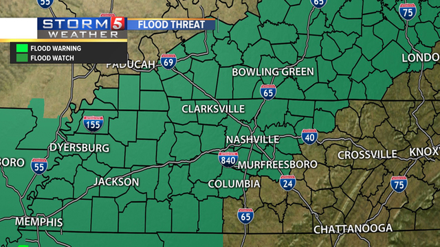 Flood watch issued, river basin warned