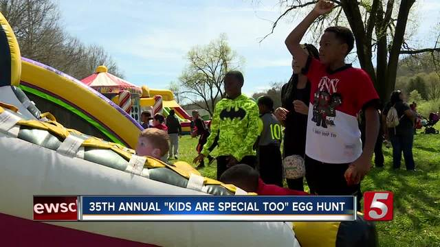 Easter egg hunt held for kids with special needs