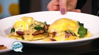 Whiskey Row's Corn Cake Benedict