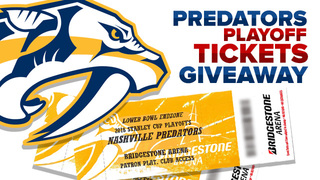 Nashville Predators Playoffs Tickets Giveaway