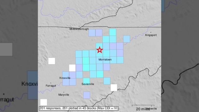 Series of small earthquakes strike near Danville Sunday