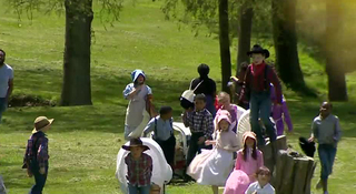 Oregon Trail Comes To Life For Students