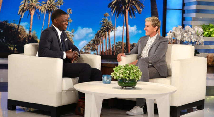 james shaw surprised with check  celebrity hero on ellen