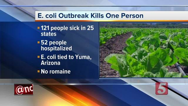 Coli outbreak from romaine lettuce reaches Kentucky