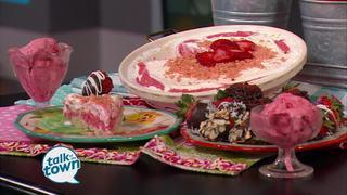 Demetria White's Simple Strawberry Ice Cream