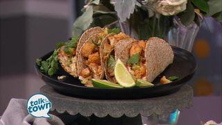 Vegan Korean Cauliflower Tacos & Creamy Slaw