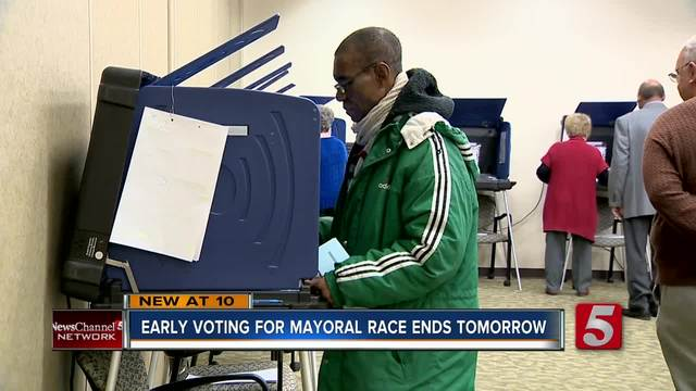 Early Voting In Nashville Mayor Race Ends Saturday