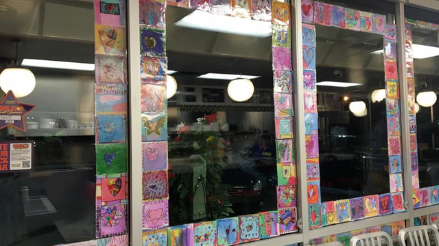 Students Create Artwork For Waffle House