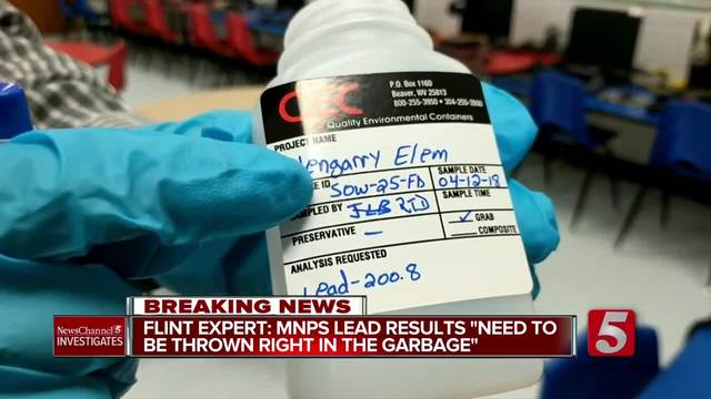 Flint Expert- MNPS Lead Tests Should Be -Thrown Right Into The Garbage-