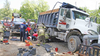 Man Dies After Getting Pinned Under Dump Truck