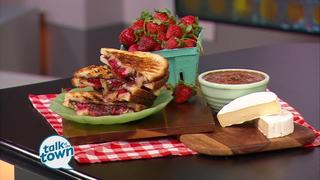 Grilled Peanut Butter, Strawberry & Brie Melt