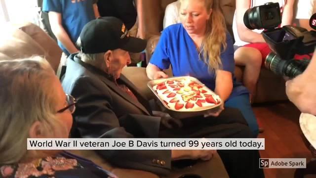 Family Celebrates WWII Veteran-s 99th Birthday