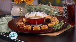 Cajun Sausage Puffs with Whiskey Mustard Sauce