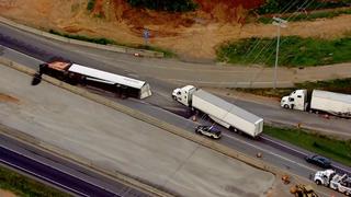 Overturned Semi Delays Traffic On I-65 South