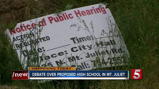 Mt- Juliet Planning Commission To Vote On New School