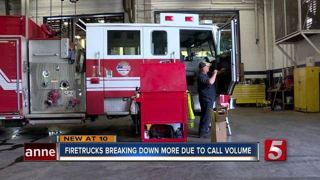 Fire Vehicles Need More Repairs Due To Call Volume