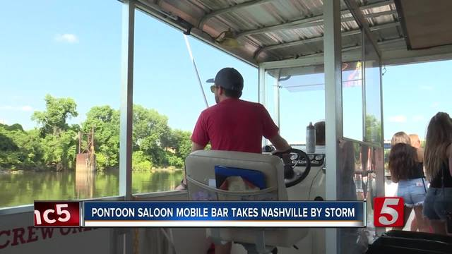 Nashville Tourists- Locals Ditch Downtown For -Pontoon Saloon-