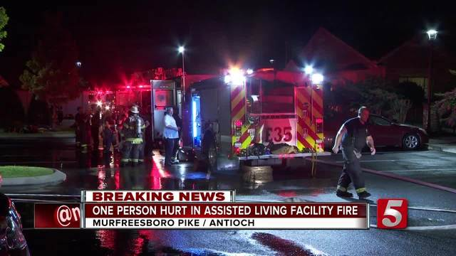 1 Hospitalized- Dozens Evacuated In Assisted Living Facility Fire