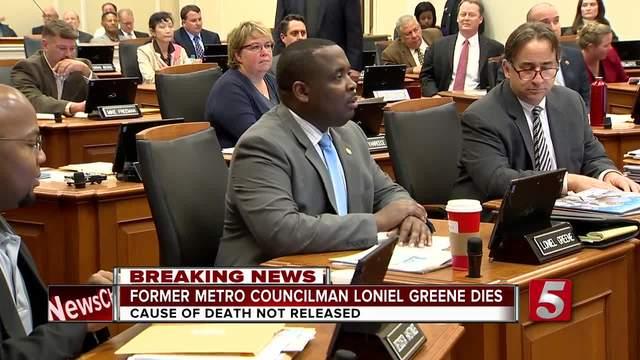 Former Metro Councilman Loniel Greene Jr- Dies