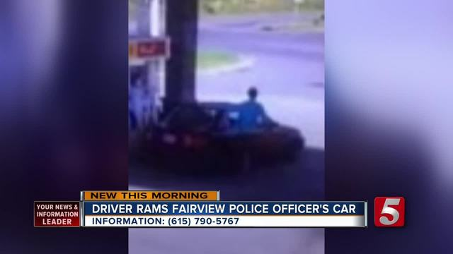 Fairview Police Search For Suspect Who Rammed Officer-s Car