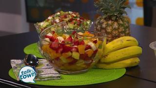 Tropical Cheesecake Salad and Fresh Veggie Salad
