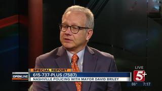 Mayor Briley talks Policing in Nashville