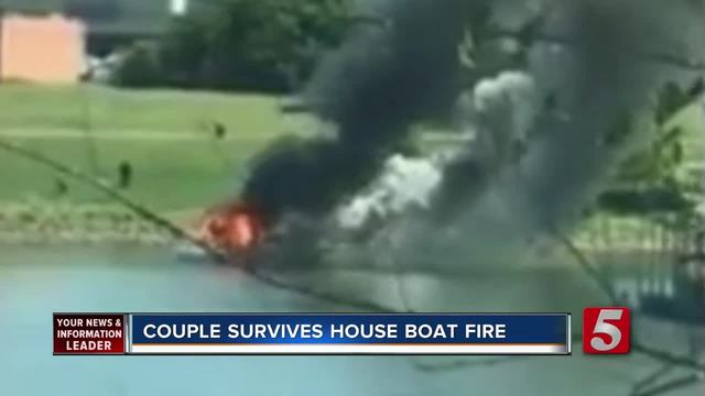 Couple Still Laughing After Boat Catches Fire- Sinks