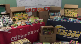 Office Supply Stores Donate To Local School