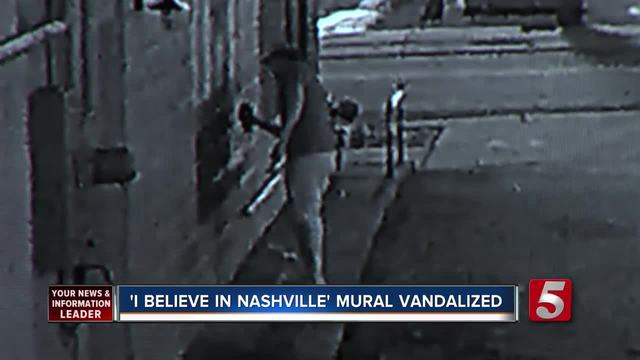 -I Believe In Nashville- Mural Vandalized Again
