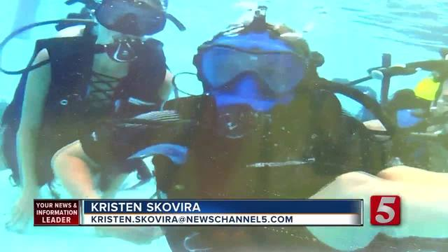 GoDiveNow Pool Visits Nashville- Teaches Diving To Vets- Wounded Warriors
