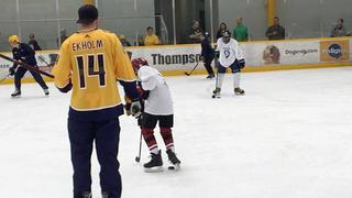 Ekholm Hosts 2nd Hockey Clinic For Make-A-Wish