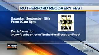 Happening Around Town- Rutherford Recovery Fest