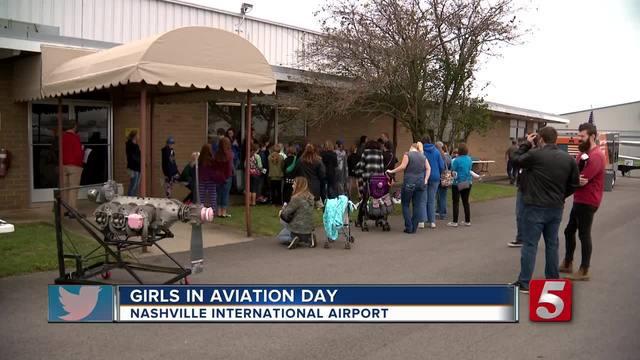 Young Girls Learn About Jobs In Aviation