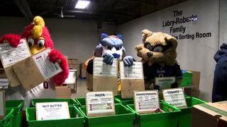 Athletes, mascots volunteer in 'All Sport Sort'